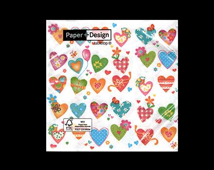 Servilletas Colourful hearts